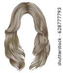 trendy woman long hairs blond... | Shutterstock .eps vector #628777793