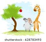 vector illustration of a ram...   Shutterstock .eps vector #628783493