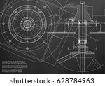 mechanical engineering drawings.... | Shutterstock .eps vector #628784963