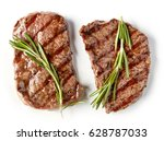 grilled beef steak isolated on... | Shutterstock . vector #628787033