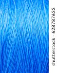 Reel Blue Silk Thread. Textile...