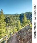 Small photo of Spring Hiking Trail at Eldorado Canyon State Park in Colorado #1 - with wood guard rail