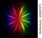 rainbow light rays background ...   Shutterstock . vector #628829573