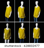 Six Mannequin In Female Yellow...