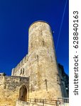 Small photo of Chateau de Rauzan, a medieval castle in Gironde department of France