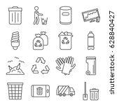 set of garbage related vector... | Shutterstock .eps vector #628840427