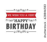 vintage card with happy... | Shutterstock .eps vector #628846583