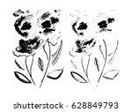 black and white monochrome... | Shutterstock . vector #628849793