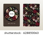 cover design with floral... | Shutterstock .eps vector #628850063