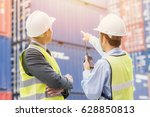 back view of businessman with... | Shutterstock . vector #628850813