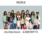 various of diversity women... | Shutterstock . vector #628858973