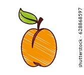 apple fresh fruit icon | Shutterstock .eps vector #628868597