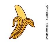 banana fresh fruit icon | Shutterstock .eps vector #628868627
