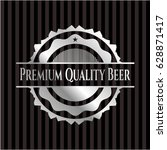 premium quality beer silver... | Shutterstock .eps vector #628871417