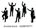 Silhouette Of Businessman On...