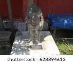 Small photo of Kanyakumari, Tamil Nadu, India - Oct 7, 2008 Ancient statue of female Hindu deity Kali worshiped as divine Mother, mother of the universe, Adi Shakti, Adi Parashakti at Government Museum, Kanyakumari