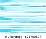 minimalistic blue watercolor... | Shutterstock . vector #628900877