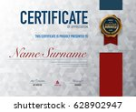 certificate template luxury and ... | Shutterstock .eps vector #628902947