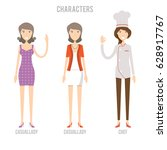 character set include casual... | Shutterstock .eps vector #628917767