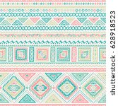 vector seamless pattern in... | Shutterstock .eps vector #628918523