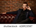imposing well dressed man... | Shutterstock . vector #628923587