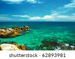 beautiful tropical white sand... | Shutterstock . vector #62893981