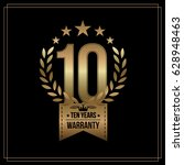 10 years warranty background... | Shutterstock .eps vector #628948463