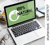organic natural healthy... | Shutterstock . vector #628978757