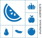 diet icon. set of 6 diet filled ... | Shutterstock .eps vector #628982873