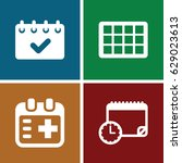 appointment icons set. set of 4 ... | Shutterstock .eps vector #629023613