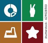 trendy icons set. set of 4...