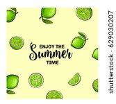 enjoy the summer time banner ... | Shutterstock .eps vector #629030207