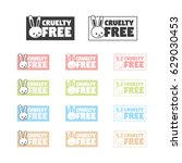 animal cruelty free symbol. can ... | Shutterstock .eps vector #629030453