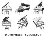 grand piano. vector...   Shutterstock .eps vector #629056577