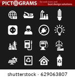 alternative energy icons set... | Shutterstock .eps vector #629063807
