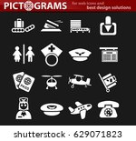 airport vector icons for user... | Shutterstock .eps vector #629071823