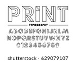 vector of stylized font and... | Shutterstock .eps vector #629079107