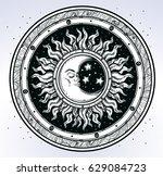 vintage elegant hand draw work... | Shutterstock .eps vector #629084723