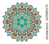 mandala. ethnic decorative... | Shutterstock .eps vector #629085173