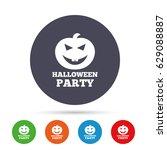 halloween pumpkin sign icon.... | Shutterstock .eps vector #629088887