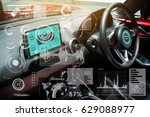 smart car  hud  concept. empty... | Shutterstock . vector #629088977