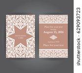 vintage background  invitation... | Shutterstock .eps vector #629093723