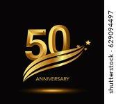 50 years anniversary... | Shutterstock .eps vector #629094497