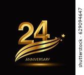 24 years anniversary... | Shutterstock .eps vector #629094647