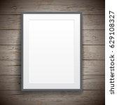 blank paper poster vintage... | Shutterstock .eps vector #629108327