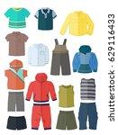 clothing for little boys in... | Shutterstock .eps vector #629116433