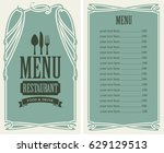 template vector menu for...   Shutterstock .eps vector #629129513