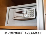 close up of electronic hotel... | Shutterstock . vector #629132567