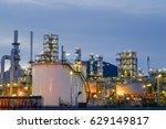 oil refinery industry... | Shutterstock . vector #629149817