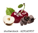 cherry  nut and chocolate... | Shutterstock . vector #629165957